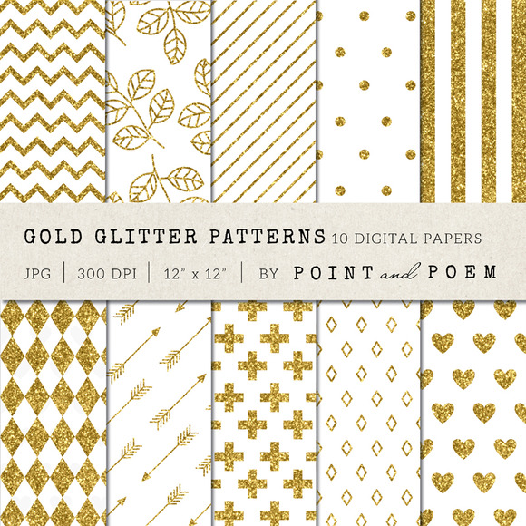 Gold Glitter Patterns