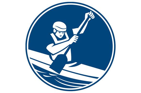Canoe Slalom Circle Icon