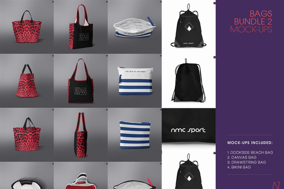 4 TOP BAGS MOCK-UPs BUNDLE VOL.2