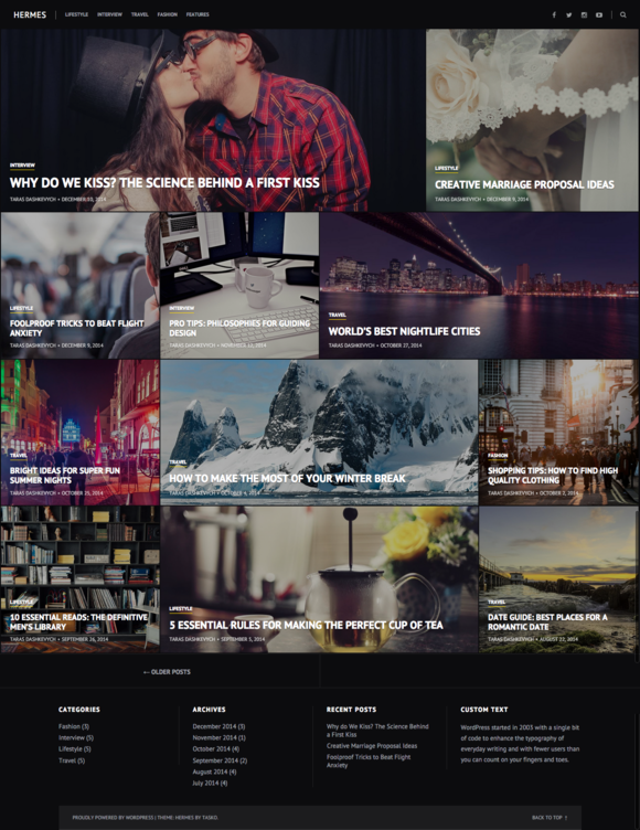 Hermes WordPress Theme