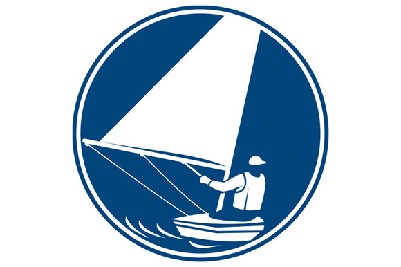Sailing Yachting Circle Icon