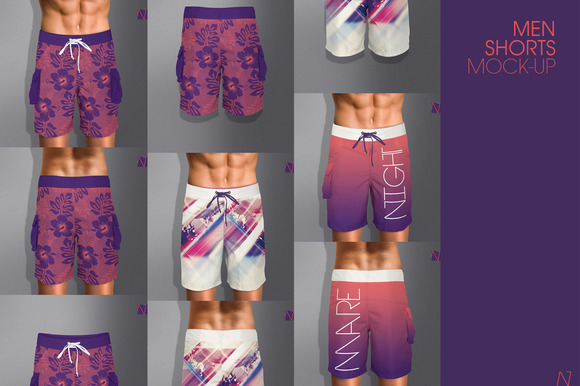 MEN SHORTS MOCK-UP