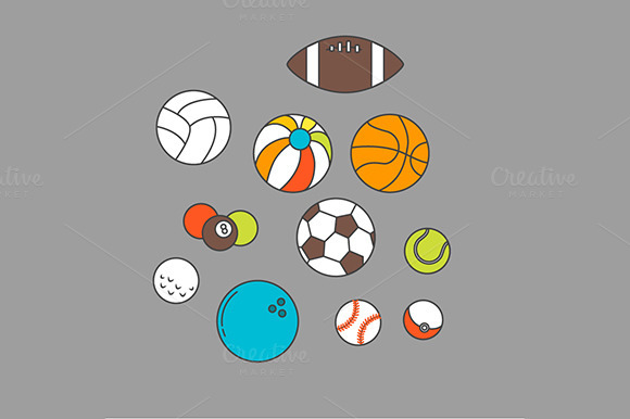 Balls For Sport Or Recreation Set