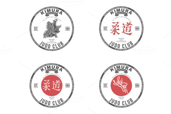 Judo Club T-shirt Graphics Label