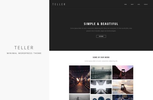 Teller Minimal Responsive WP Theme