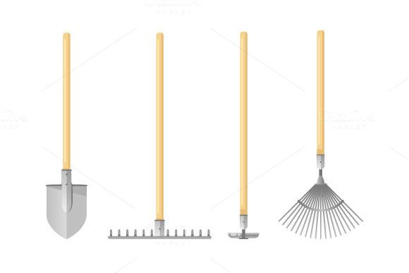 Gardening Tools Flat