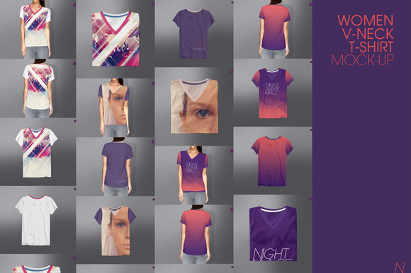 WOMEN V-NECK T-SHIRT