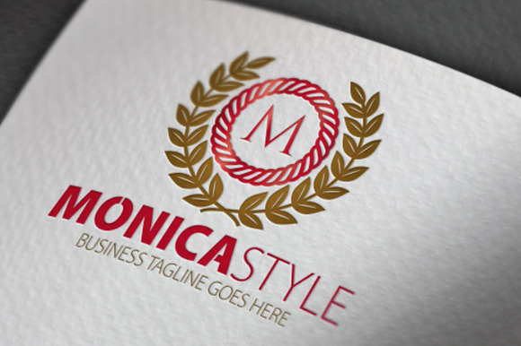 Monica Style M Letter Logo