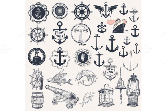 Vector Set Of Nautical Elements