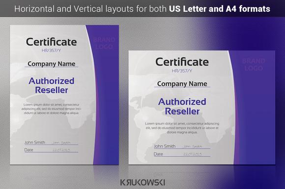 Reseller Certificate