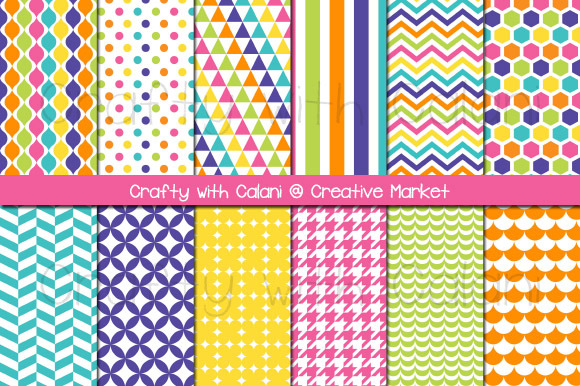 Candy Color Digital Paper