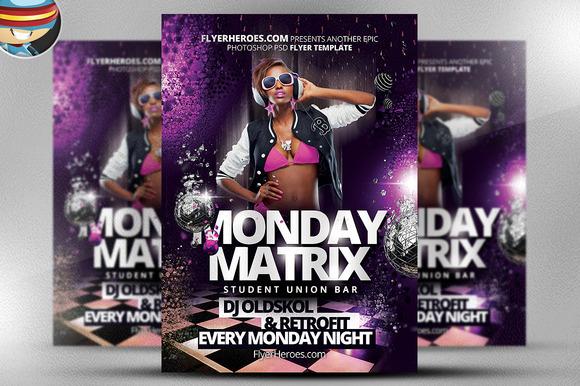 Matrix Monday Flyer Template