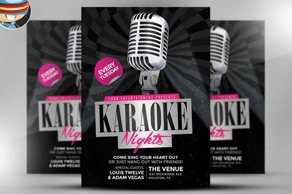 Karaoke Nights Flyer Template 2