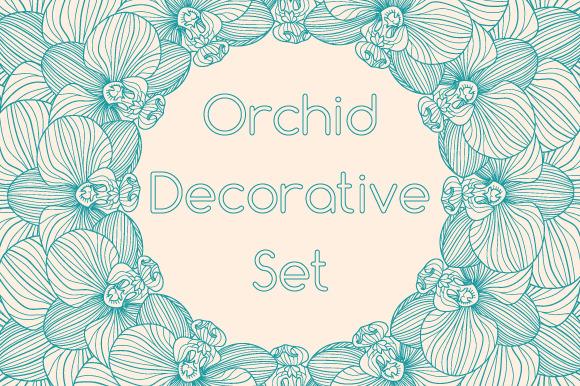 Decorative Orchid Set