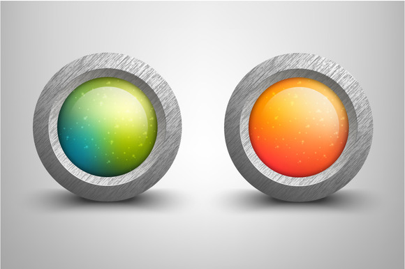 Vector Colorful Buttons