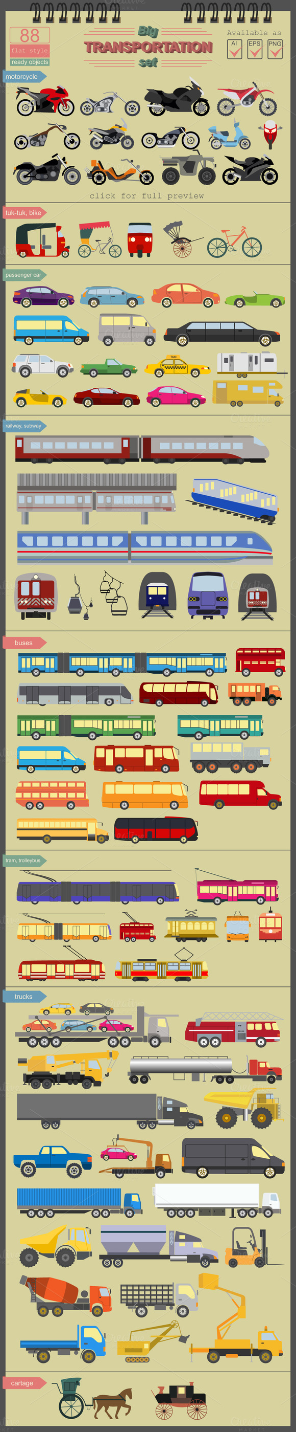 Big Transportation Set