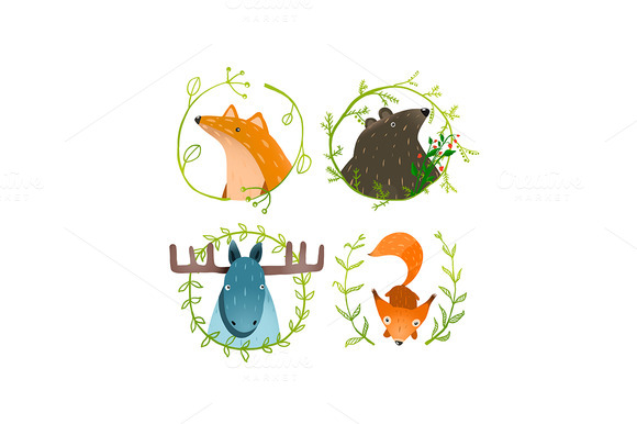 Wild Forest Animals Set