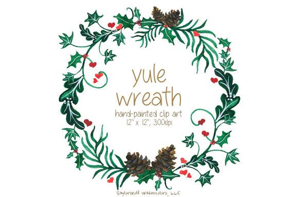 Yule Wreath Holiday Clip Art