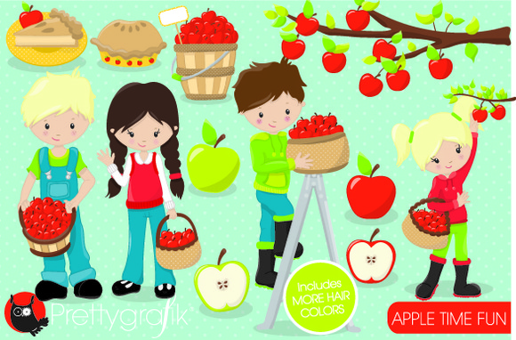 Apple Picking Clipart