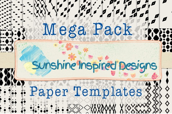 Diamonds Paper Templates Bundle