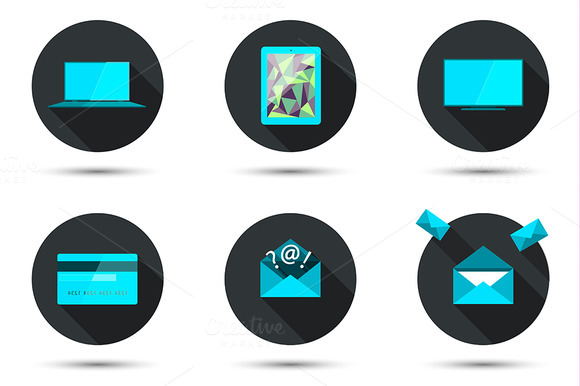 Set Of Stylish Icons