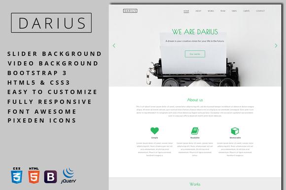 Darius Agency Portfolio Template