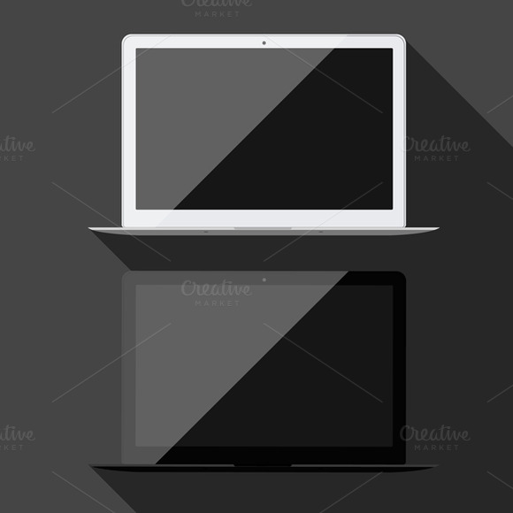 Vector Laptop Isolated
