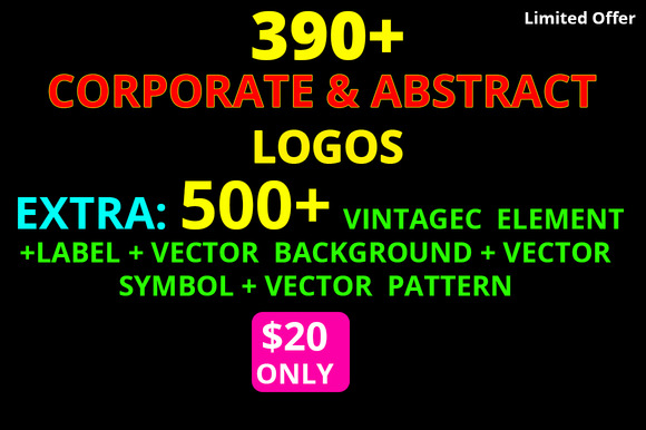 890 Corporate Abstract Logos