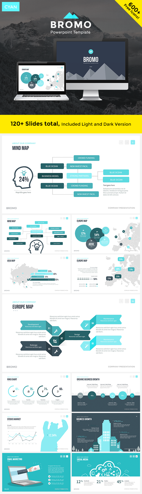 BROMO Powerpoint Template