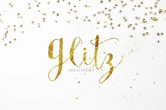 GLITZ Gold Glitter Creative Kit