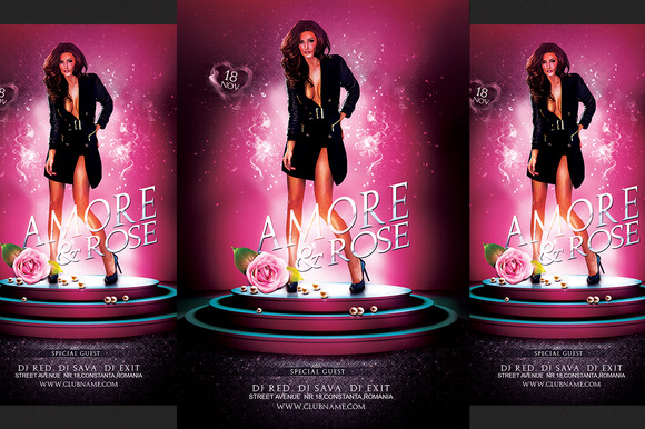 Amore Party Flyer