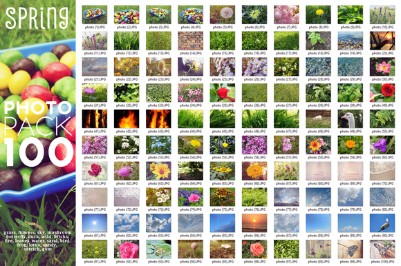 Spring Photo Pack 100