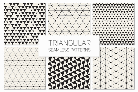 Triangular Seamless Patterns Set