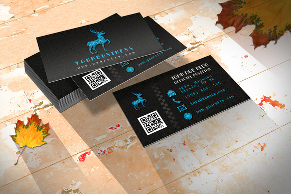 Retro Business Card Pixel Wild