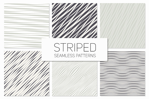 Striped Seamless Patterns Set