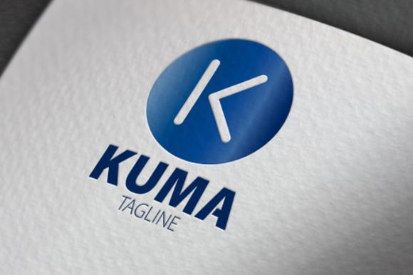Kuma K Letter Logo