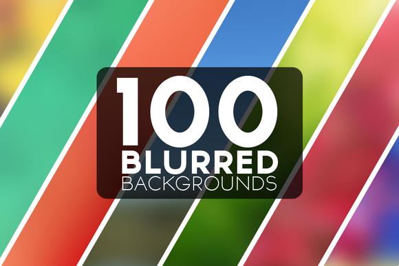 100 Blurred Backgrounds Set