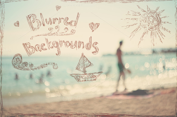 Summer Blurred Vintage Backgrounds