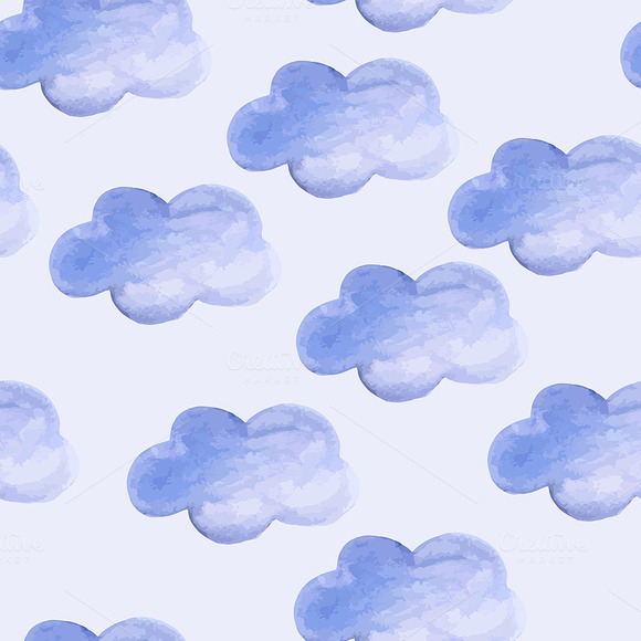 Vector Seamless Cloudy Pattern