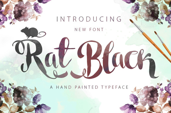Rat Black Painted Typeface