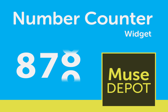 Number Counter Adobe Muse