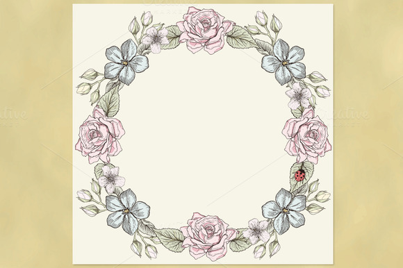 Floral Wreath Victorian Style