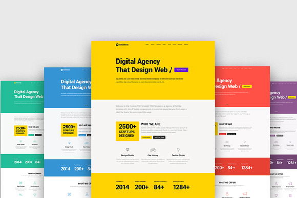 Credens One Page HTML Template