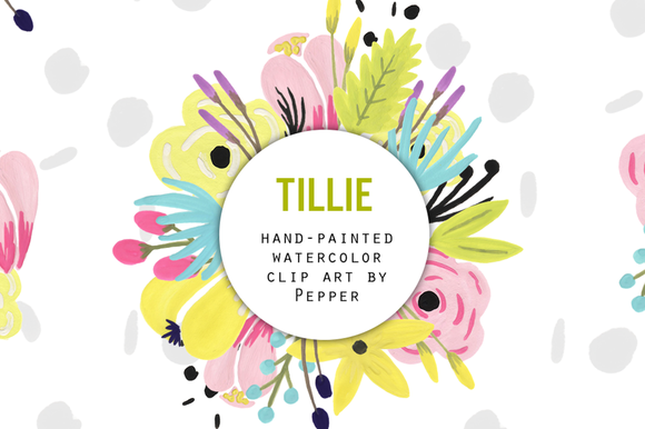 Pastel Watercolor Flowers Clip Art