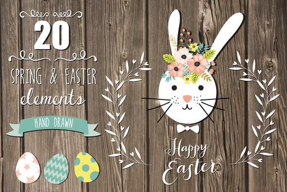 20 Spring Easter Elements