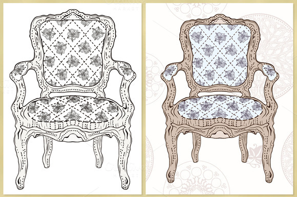 Luxurious Chair Vector Illustration