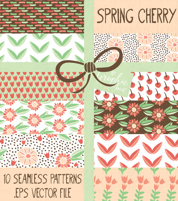 Spring Cherry Flower Patterns