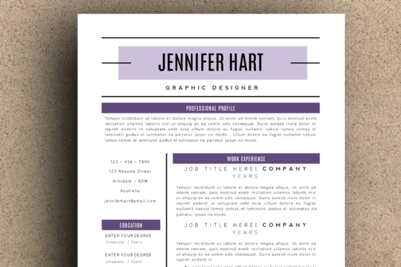 The Jennifer Resume Pack