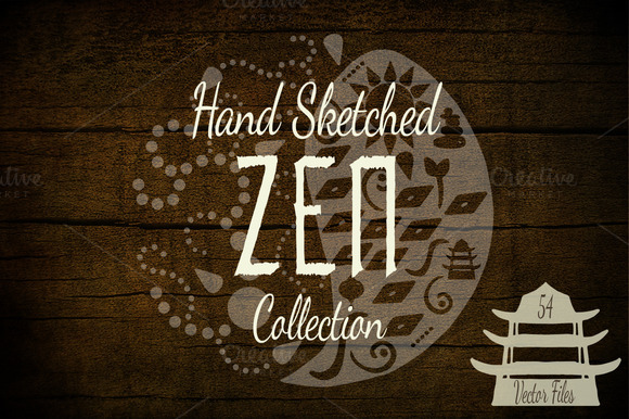 Hand Sketched ZEN Vectors Template
