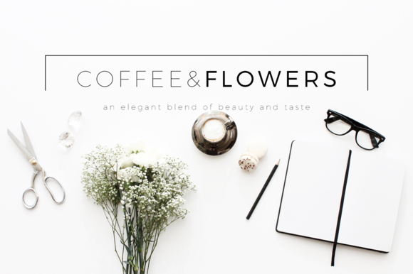 Coffee Flowers Header Image Bundle